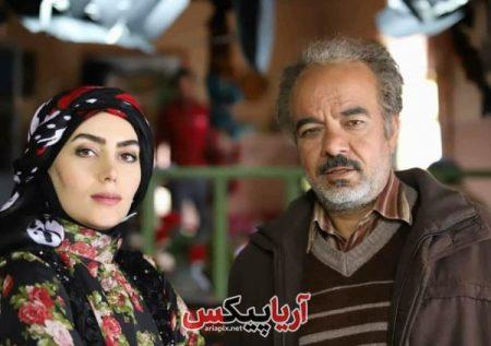 روژان در سریال نون خ در کنار سعید اقاخانی