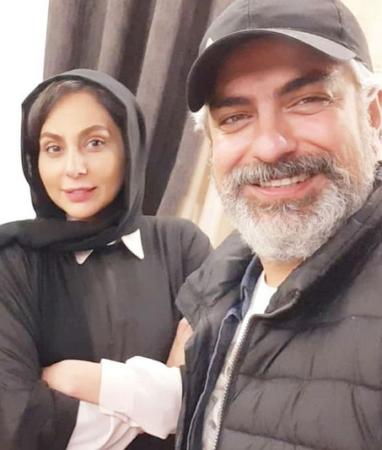 عکس جدید رعنا آزادی ور با همسرش مهدی پاکدل