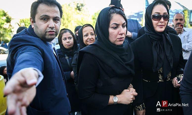 الهام حمیدی و لاله اسکندری در ختم همسر شهید بابایی