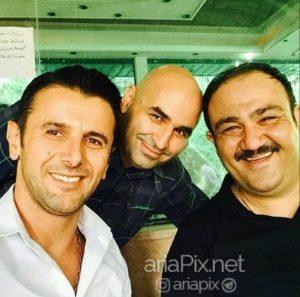 مهران غفوریان در کنار علی مسعودی و امین حیایی