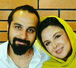 شهره سلطانی در کنار همسرش بهروز پناهنده