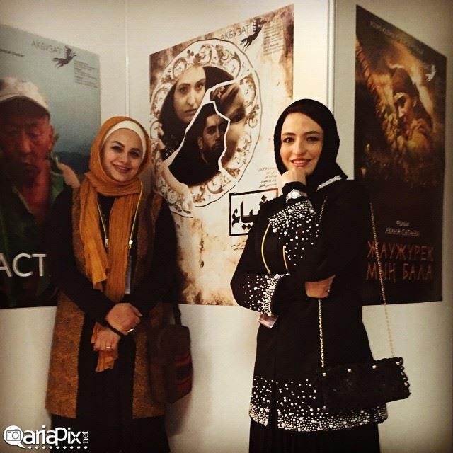 گلاره عباسی (بازیگر فیلم ) و نرگس آبیار کارگردان در روسیه