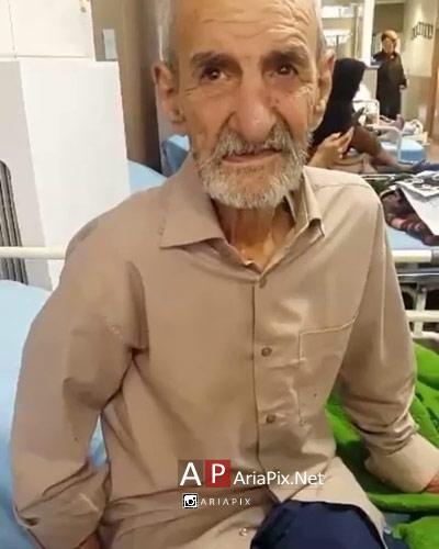 احمد پورمخبر در بیمارستان