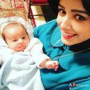 ترانه علیدوستی و همبازی نوزادش در سریال شهرزاد / عکس سلفی