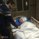 مادر علی ضیا در بستر بیماری + عکس
