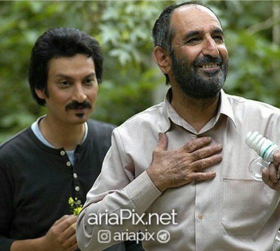 ارژنگ امیرفضلی و همسرش
