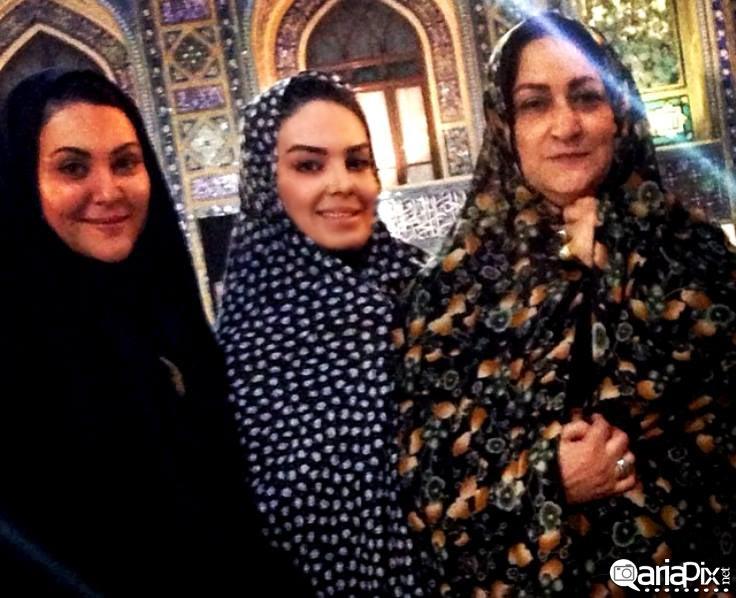 سارا خویینی ها مریم امیر جلالی و لاله اسکندری در مشهد