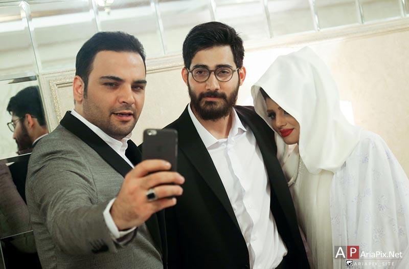 سلفی احسان علیخانی با حامد و همسرش
