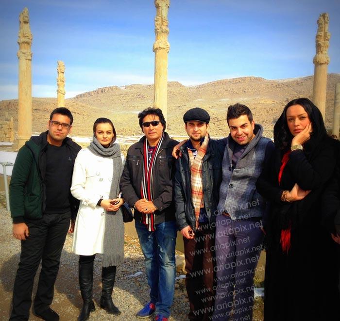 بازیگران آوای باران ( الهام چرخنده,علی تقوا زاده و نیلوفر پارسا ) در تخت جمشید