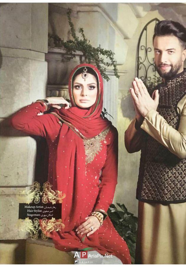 بنیامین و همسرش در لباس هندی