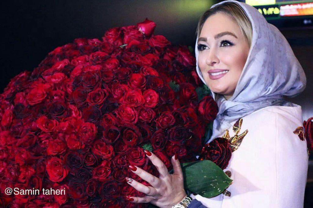ماجرای دادن هدیه دسته گل میلیونی به الهام حمیدی توسط یکی از طرفدارانش + واکنش او