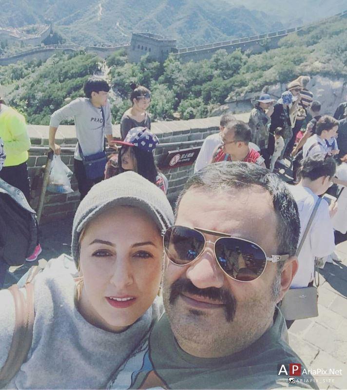 شقایق دهقان و همسرش مهراب قاسمخانی در چشن