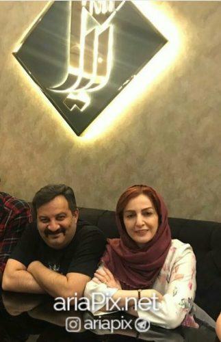 عکس شقایق دهقان و همسرش مهراب قاسمخانی