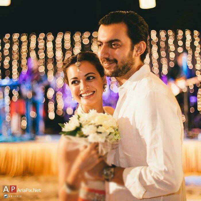 عکس دیا میرزا و همسرش ساحل سنگا