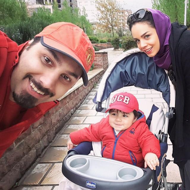 احسان خواجه امیری و همسرش