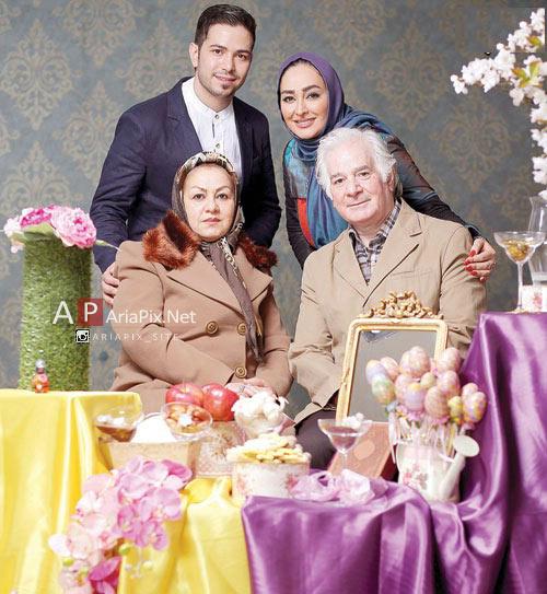 گفتگو با الهام حمیدی ویژه نوروز 94 +عکس خانواده پدر مادر و همسر الهام حمیدی