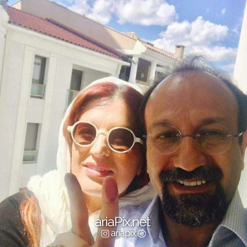 اصغر فرهادی و همسرش در انتخابات 96
