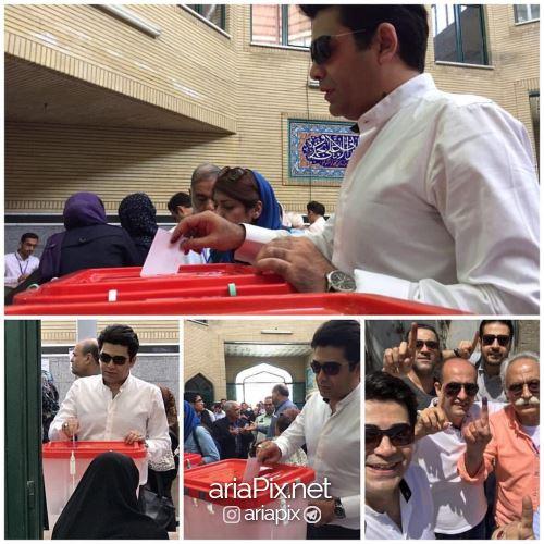 فرزاد حسنی رای دادن انتخابات