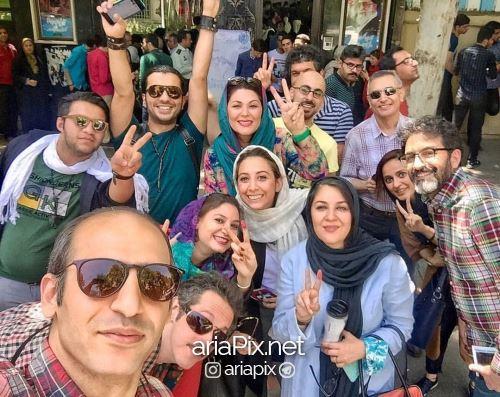 لاله اسکندری و خواهرش رای دادن انتخابات 96