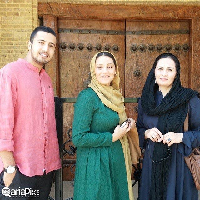 پریوش نظریه, شبنم مقدمی و مهرداد صدیقیان بازیگر ایرانی در باغ ارم شیراز