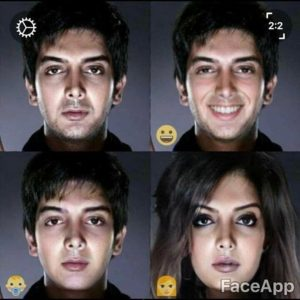 نرم افزار تغییر چهره face app