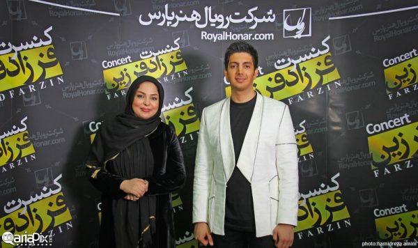 فرزاد فرزین و همسرش