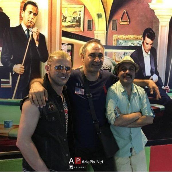 رضا عطاران امین حیایی و حمید فرخ نژاد در تایلند پشت صحنه فیلم جدیدشان