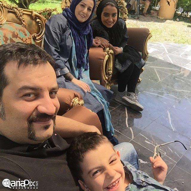 شقایق دهقان و همسرش مهراب قاسماخانی و بچه هایش در برنامه زنده رود