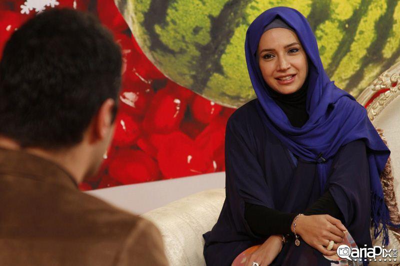 جدیدترین عکس شبنم قلی خانی بازیگر زن ایرانی / برنامه برف میباره 92