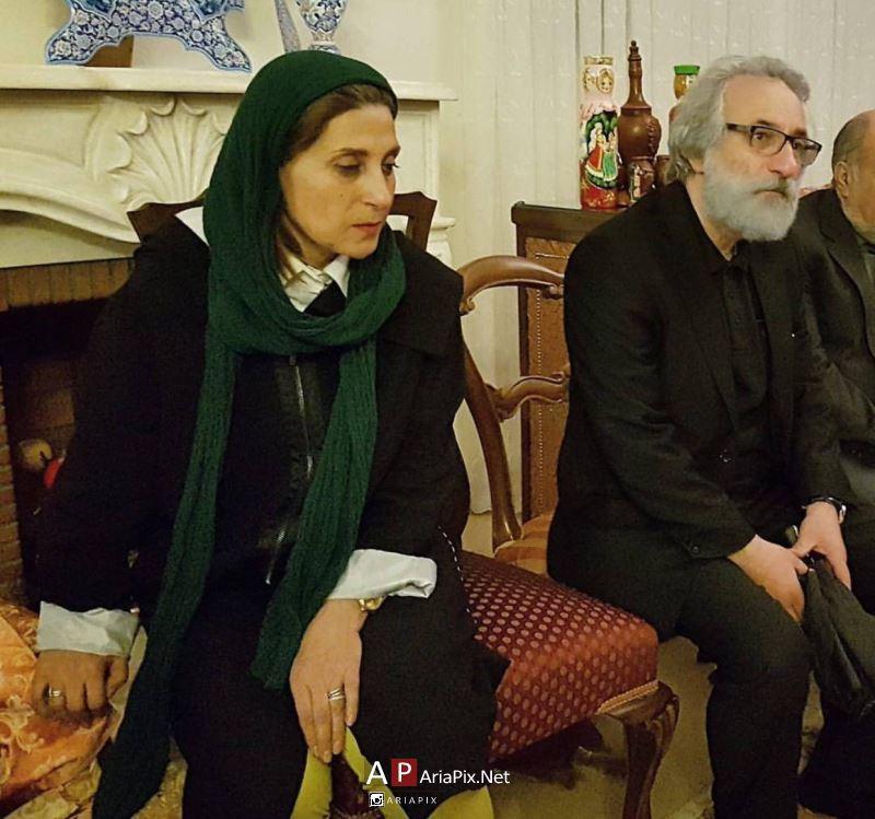 فاطمه معتمد آریا در منزل علی معلم