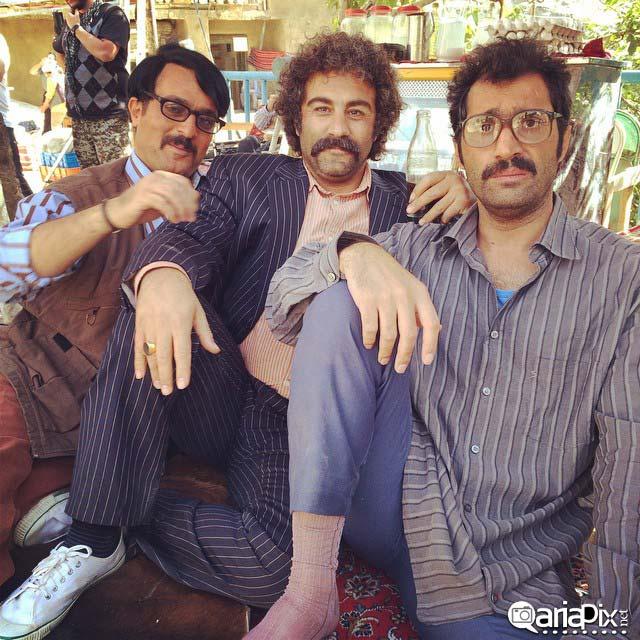 هادی کاظمی احمد مهرانفر و محسن تنابنده در فیلم ایران برگر