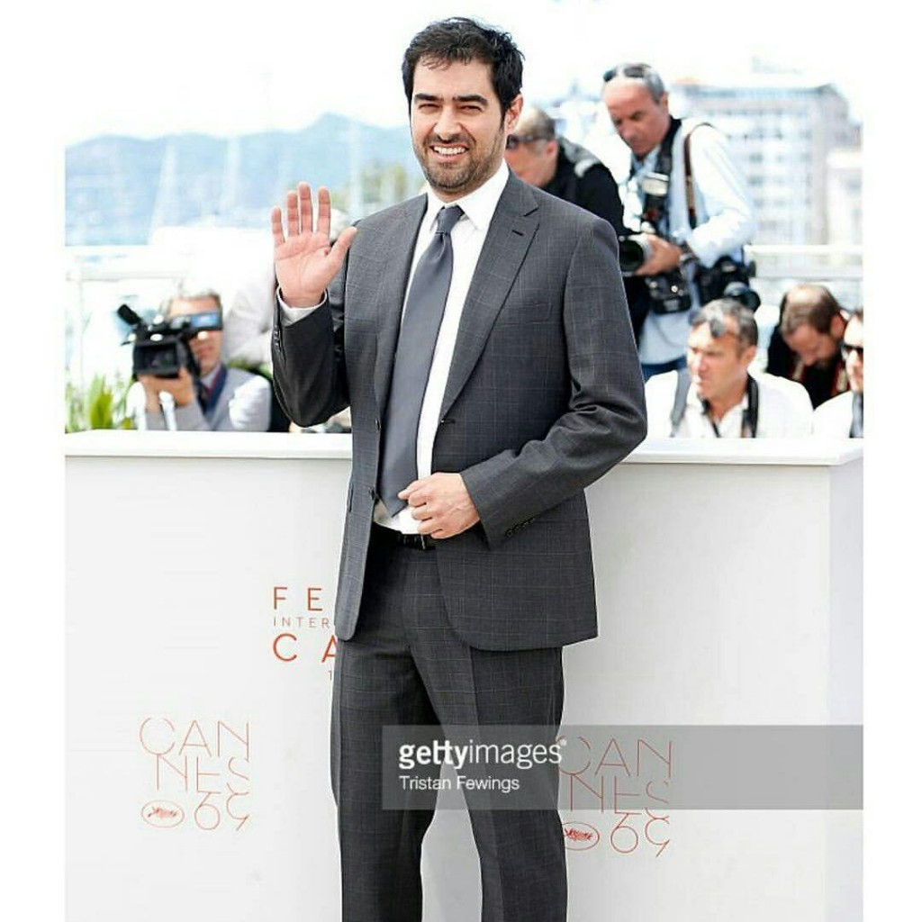 شهاب حسینی در فرش قرمز جشنواره کن برای فیلم فروشنده