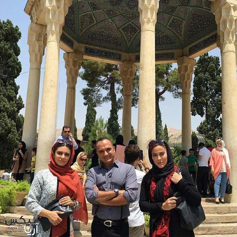 آشا محرابی,لیندا کیانی و احسان کرمی در حافظیه شیراز