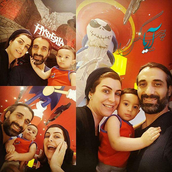 ماه چهره خلیلی و همسرش و فرزندشان