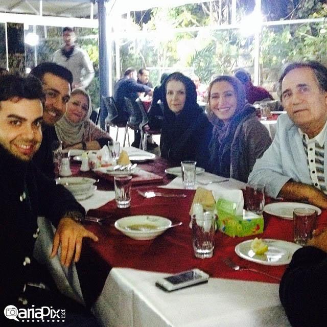 نیکی مظفری و پدرش مجید مظفری در شیراز
