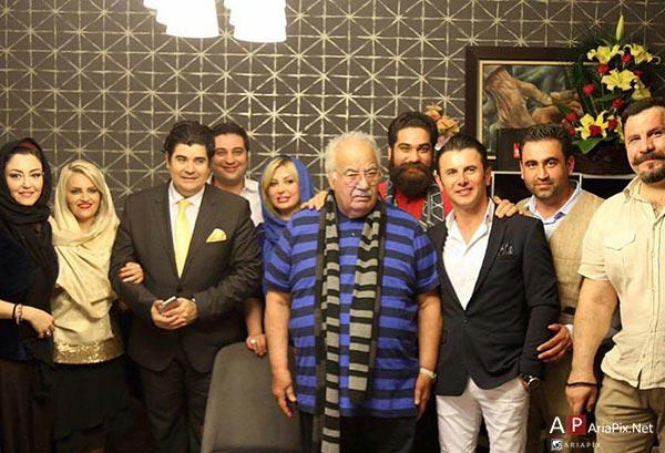 جمعی از بازیگران در تولد 86 ساگی ناصر ملک مطیعی