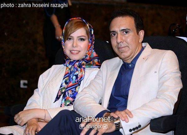 مزدک میرزایی و همسرش