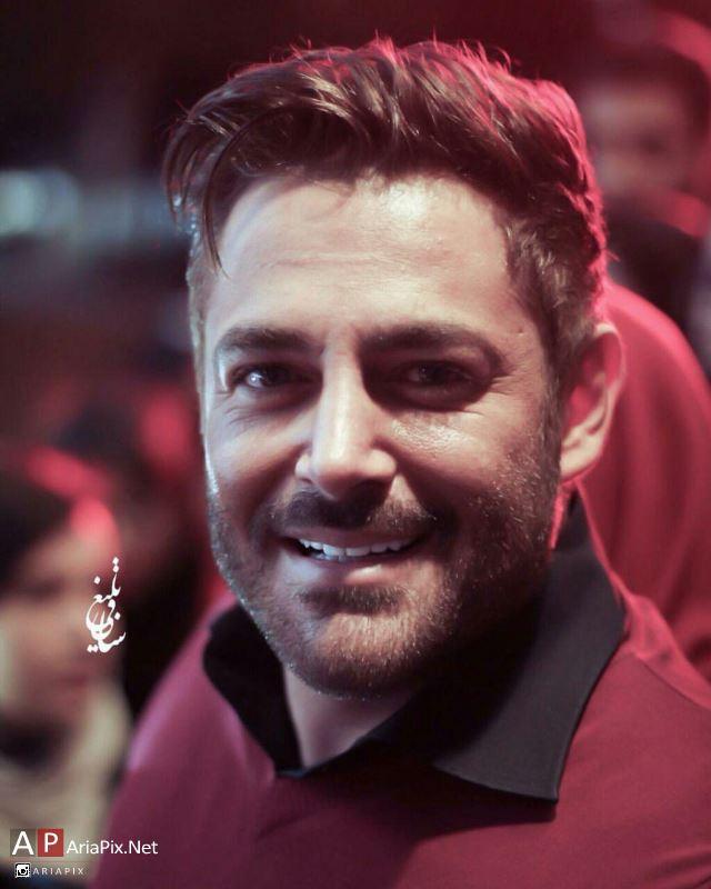 محمدرضا گلزار در مهمانی سریال عاشقانه