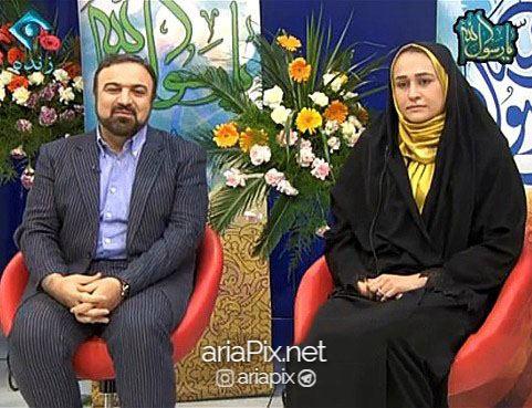 مرتضی حیدری و همسرش