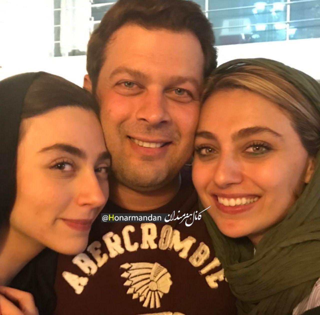 پژمان بازغی در کنار خواهرانش مریم و کامیا +عکس