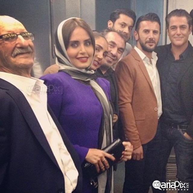 محمدرضا گلزار امین حیایی الناز شاکردوست سیامک انصاری و همسرش در کنسرت حسن ریوندی