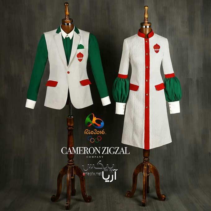 مدل نهایی لباس المپیک 2016 طراحی شده توسط کامران بختیاری