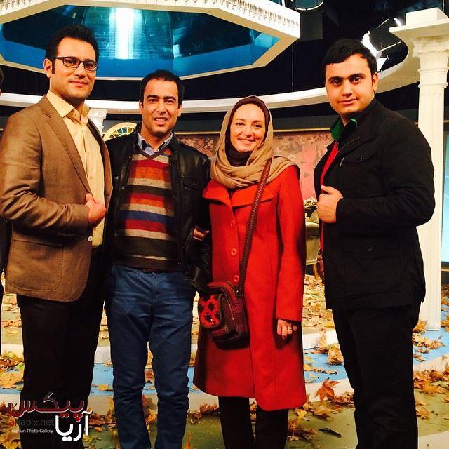 پشت صحنه برنامه خوشا شیراز با حضور سحر ولدبیگی و نیما فلاح زوج هنرمند ایرانی