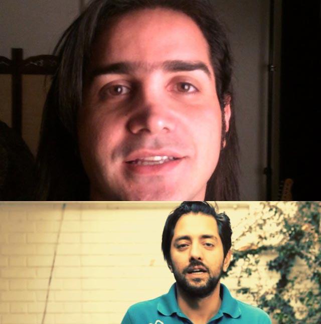 چالش سطل آب یخ بهرام رادان و محسن یگانه