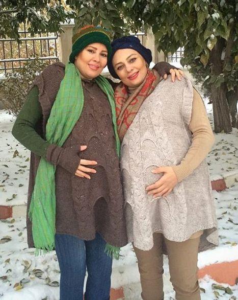 بارداری یکتا ناصر و خواهرش